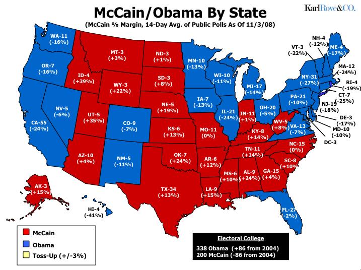 Karl Rove Calls It For Obama - The Bullshit Observer